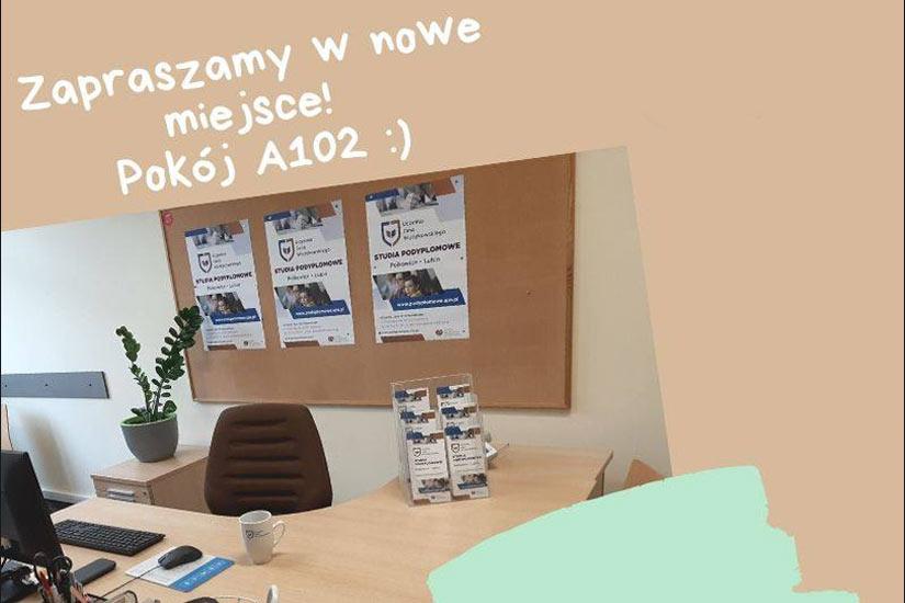 Zdjęcie pokoju A102 w siedzibie UJW w Polkowicach